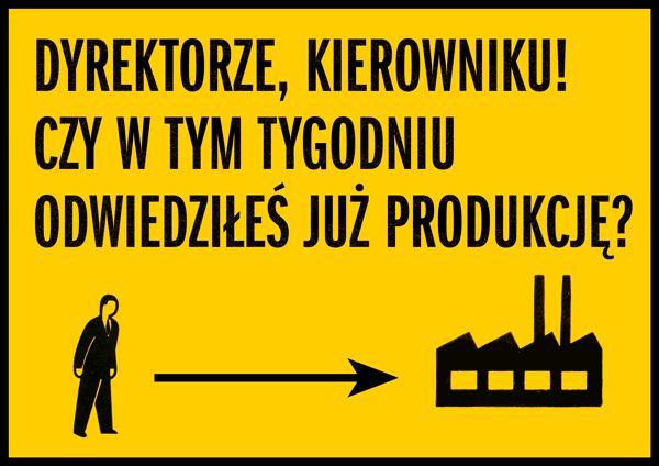 Plakat dla zakładów azotowych.