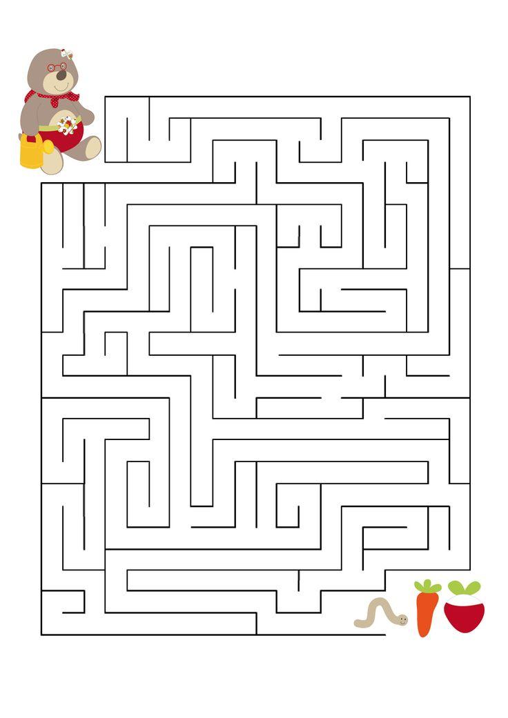 Aider la taupe à trouver ses légumes préférés ! A imprimer pour occuper vos enfants. Par Latitude Enfant http://www.latitudeenfant.fr/nos-surprises/
