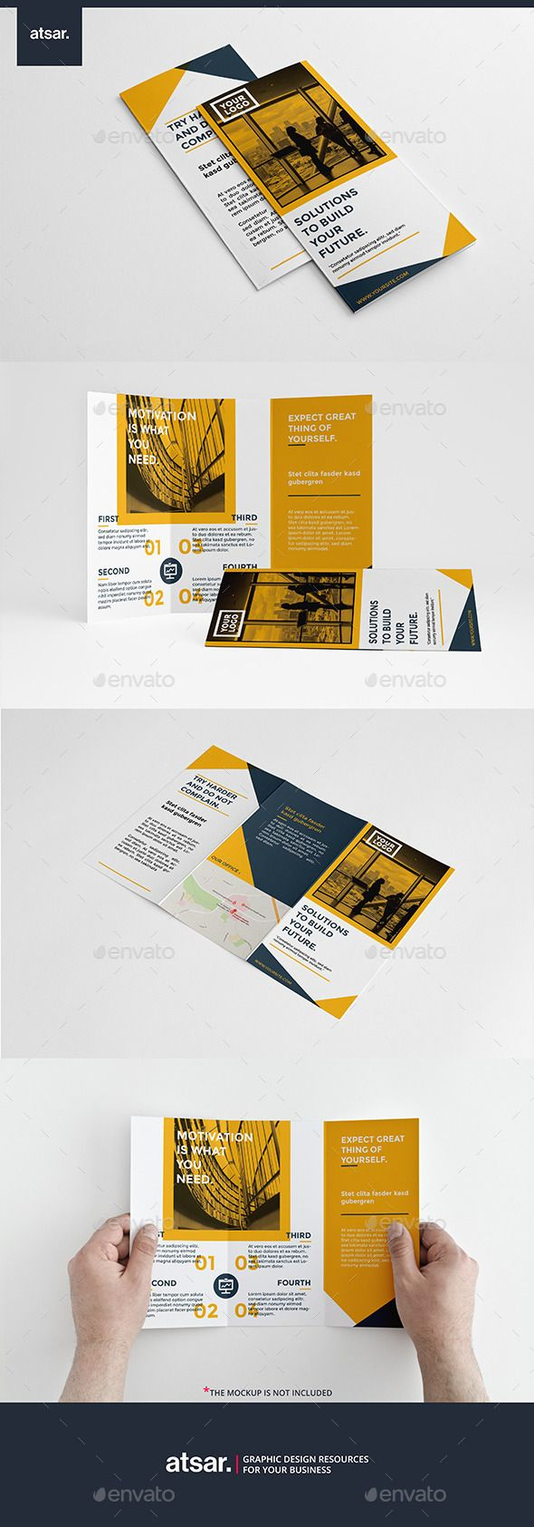 Clean Yellow Trifold Template #design Download: http://graphicriver.net/item/clean-yellow-trifold/12241722?ref=ksioks