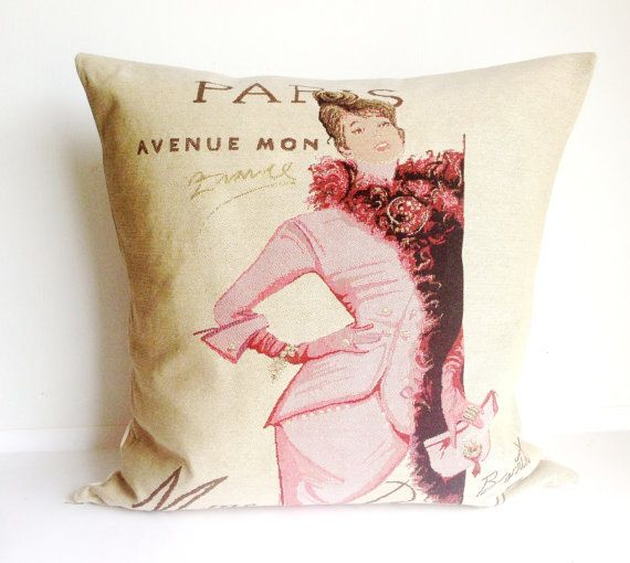 Paris Vintage fashion Cushion Cover Decorative by LaVieBoeretroos