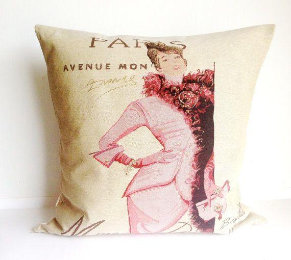 Paris Vintage fashion Cushion Cover Decorative by LaVieBoeretroos