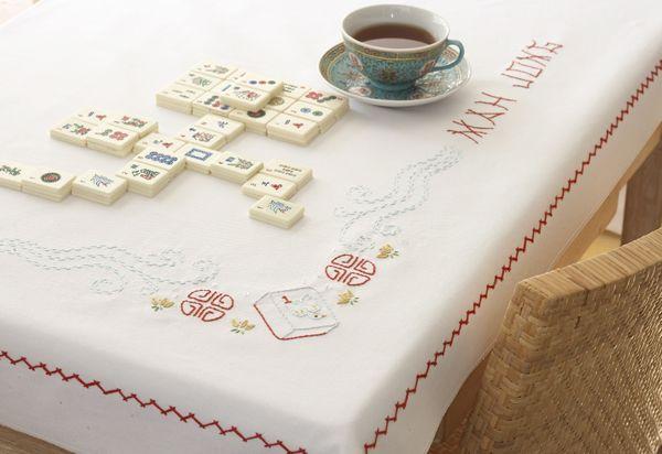 Mah Jong Embroidery Pattern