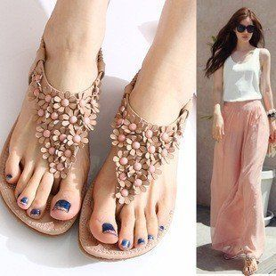A beautiful Women Sandals, the flower design make as Summer session! #fashion #womensandals #womenshoes  To shop online will entitled to get free worldwide shipping @ http://e1womenshoes.com/productdisplay/index/pid/697822/