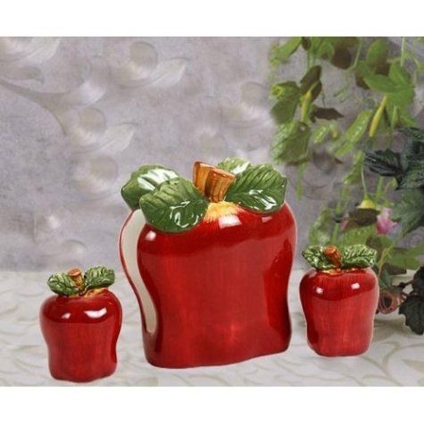 Apple Napkin Holder Salt Pepper Shakers Apple Kitchen Decorkitchen