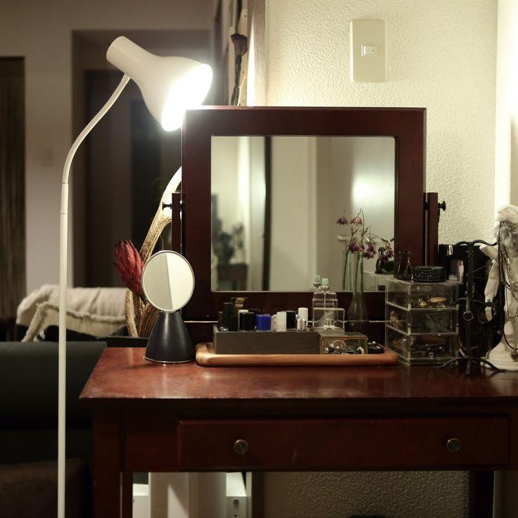 ニトリ照明/一人暮らし/賃貸/ドレッサー/アクセサリー収納/無印良品…などのインテリア実例 - 2015-05-24 02:15:27 | RoomClip(ルームクリップ)