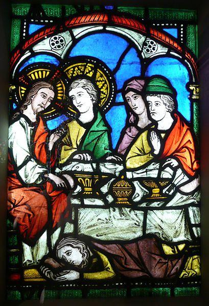 Cathédrale de Chartres - Choeur - Vitrail de la Vie de saint Martin - Baptême…