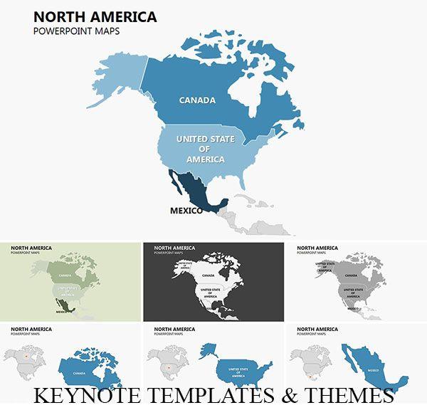 Complete North America Keynote Maps North America Map America Map America Outline