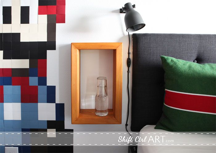 Use what you have: build a bed side cubby and 7 other DIY projects for a tween room...via shift ctrl art