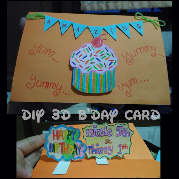 DIY 3D b'day card
