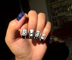cute nails Sherlocked