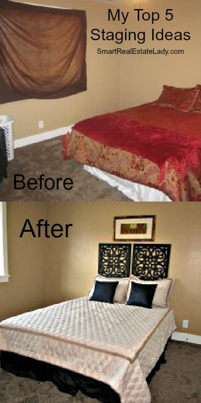 Home Staging: Before & After Staging Bedroom and other Tips for Staging your home.