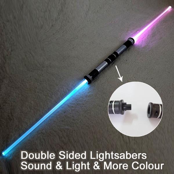 TWO Pieces Lightsaber Multi-Color & Sound - 133cm
