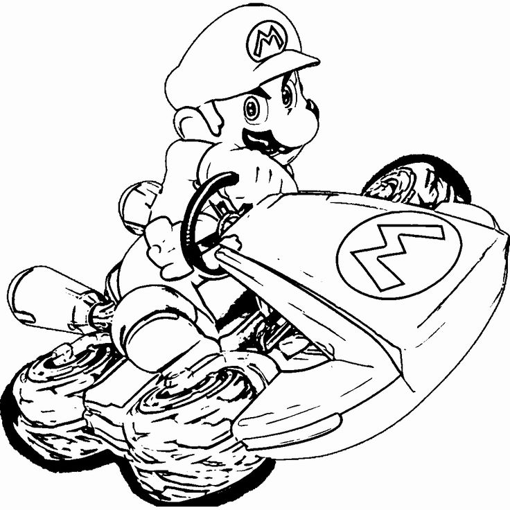 Mario Kart Coloring Page Luxury Mario Kart Free Coloring Pages In 2020 With Images