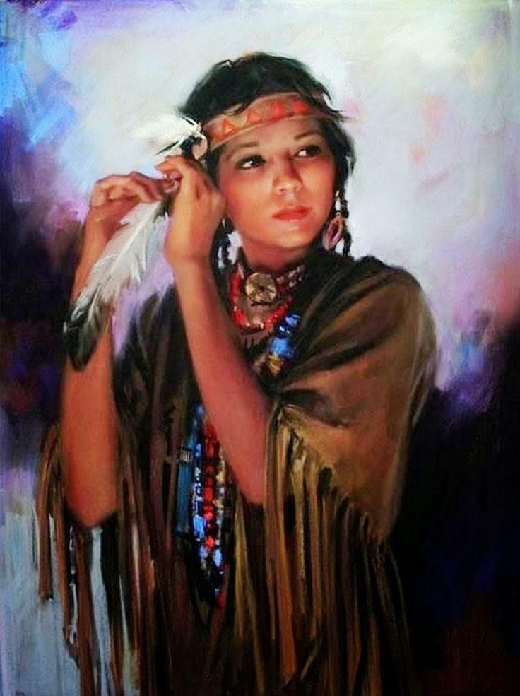 Mujeres nativas americanas se desnudan