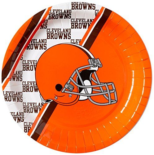 NFL Cleveland Browns Disposable Paper Plate 20Pack >>> Read more  at the image link.