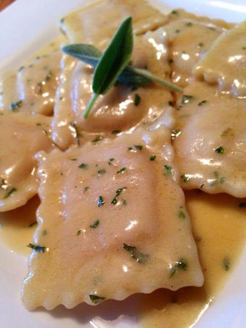 Vegan Raviolis in a Vegan Brown Butter & Sage Cream Sauce