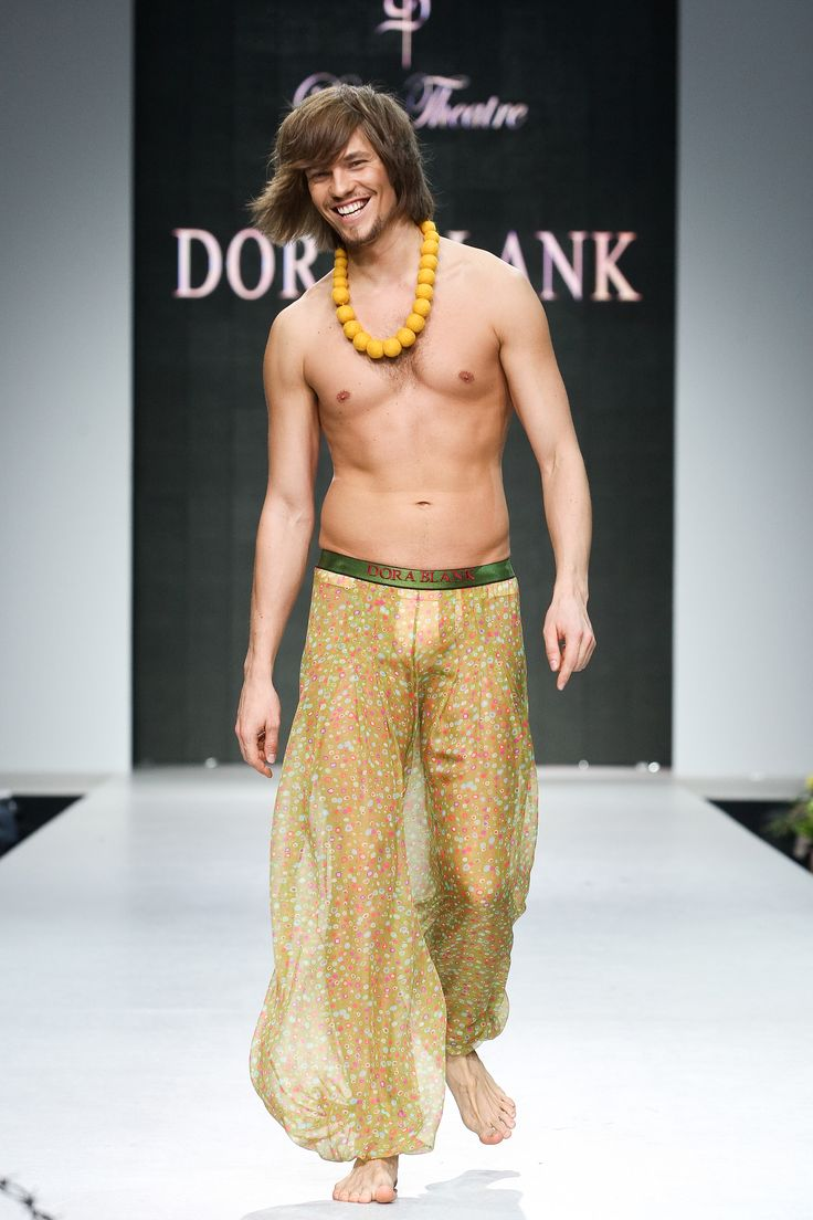 Oxumoro Collection by Dora Blank Couture. Мужские шифоновые штаны. Mens's chiffon pants.