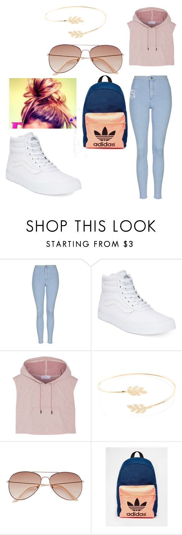 """on my way to school"" by sashten ❤ liked on Polyvore featuring Topshop, Vans, adidas, Accessorize and H&M"