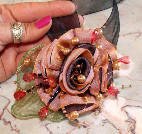 wrist corsage for wedding prom wrist corsage ribbon by vonlarae