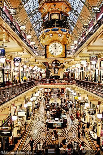QVB - Queen Victoria Building (full of great shopping).