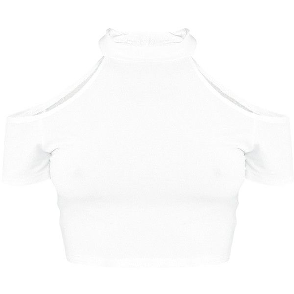 Amabell Cream Short Sleeve Cold Shoulder Crop Top ($15) ❤ liked on Polyvore featuring tops, cold shoulder crop top, short sleeve tops, cream top, white open shoulder top and cold shoulder tops