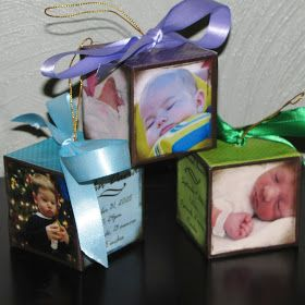A Practical Pair: Homemade Baby Christmas Ornaments