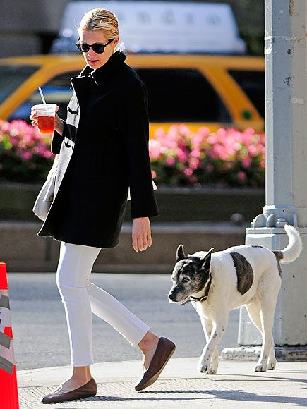 Breaking the no white after Labor Day rule, but love the toggle coat...and dog