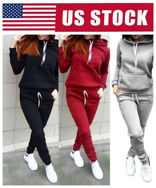 66a3dd94 Women's Tracksuit Hoodies Sweatshirt Pants Sets Sport Wear Casual Jogging  Suit #Unbranded The best fitness Women Sports Yoga Outfit.