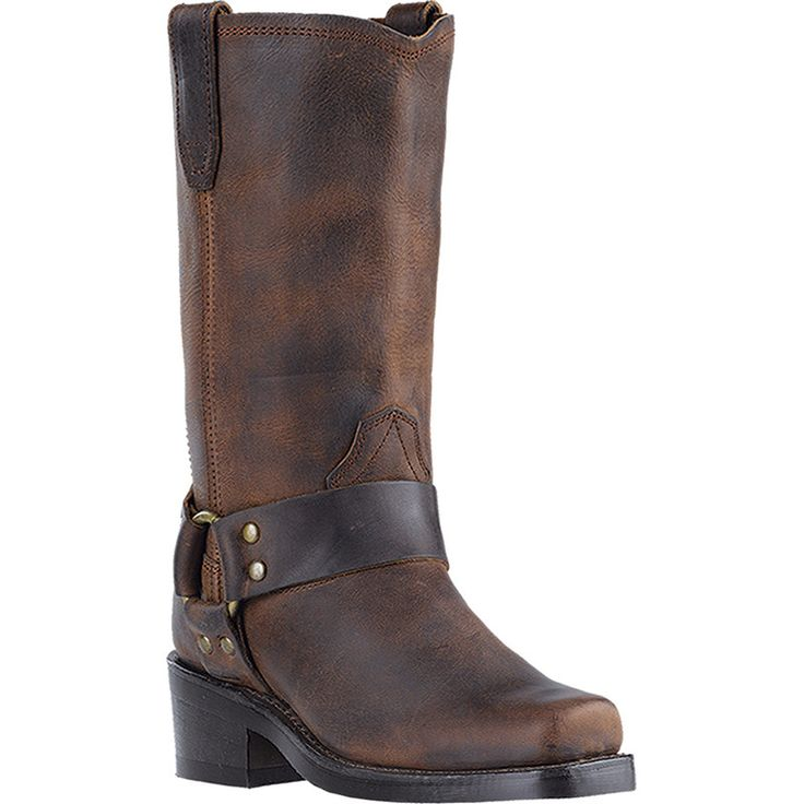 """Dingo Womens Gaucho Leather Molly 10"""""""" Harness Cowboy Boots"""