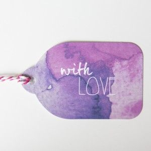 Rachel Kennedy Designs - with love gift tag - Water Colour Tags