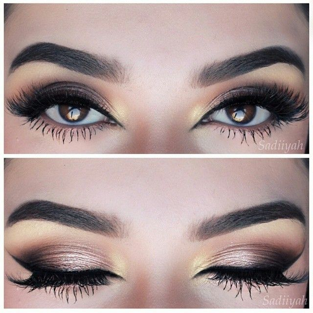 Gorgeous eyes. Smokey makeup look perfection. Bridal makeup inspiration. Add mink lashes to complete the look. #ESQIDO Voila Lash mink lashes.