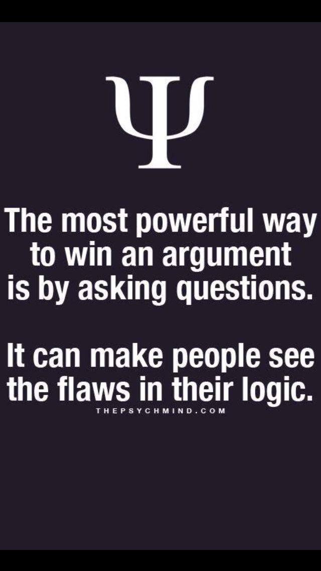 Next time I get in a pointless argument