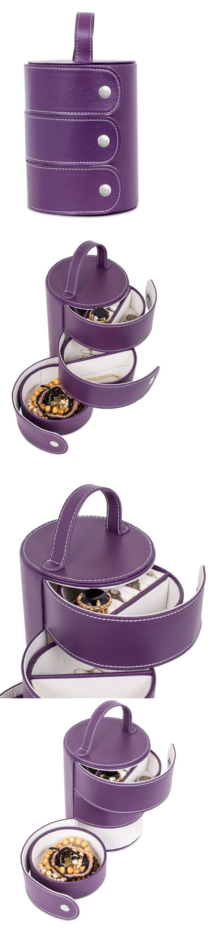 Multi-Purpose 168165: Jewelry Armoire Chest Ring Earings Necklace Organizer Box Cabinet Storage Purple -> BUY IT NOW ONLY: $34.92 on eBay!