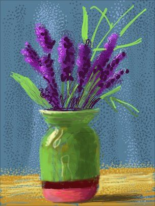 David Hockney iPad painting
