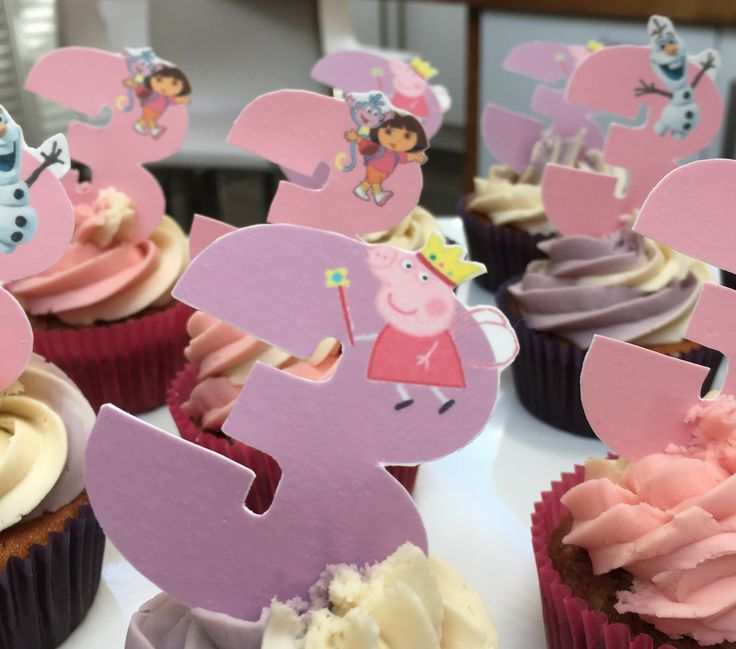 Personalised and custom designed and printed edible cupcake toppers. Ranelagh, Dublin, Ireland