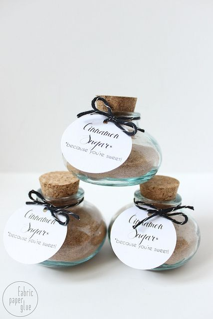 DIY Cinnamon Sugar Favors - perfect for a bridal shower! by fabricpaperglue, via Flickr