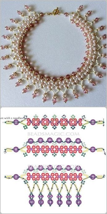 Best Seed Bead Jewelry 2017 – schema for Pearls& Roses ~ Seed Bead Tutorials