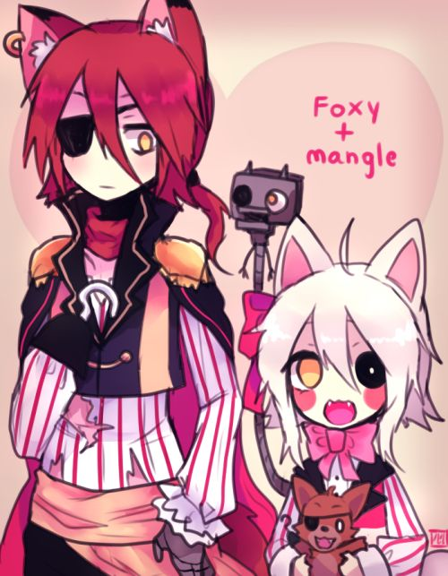 foxy x mangle human - Google Search
