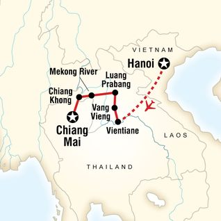 Map of Laos on a Shoestring