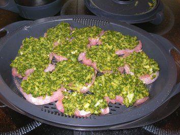 Rezept: Bildrezept: Schweinefilet mit Kräuter-Käse-Haube Bild Nr. 2