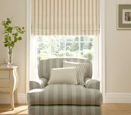 Clarke & Clarke Ticking Stripe - Need some more beach inspired feeling into your home this summer? Check out this collection!!!