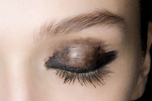 Lanvin, Spring 2012. LOVE this. now here's one of these makeup pins I might actually do.