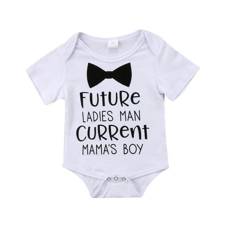 Baby Boys Baby Grow Vest Bodysuit Short and Long Sleeve Future Ladies Man Current Mummy/'s Boy