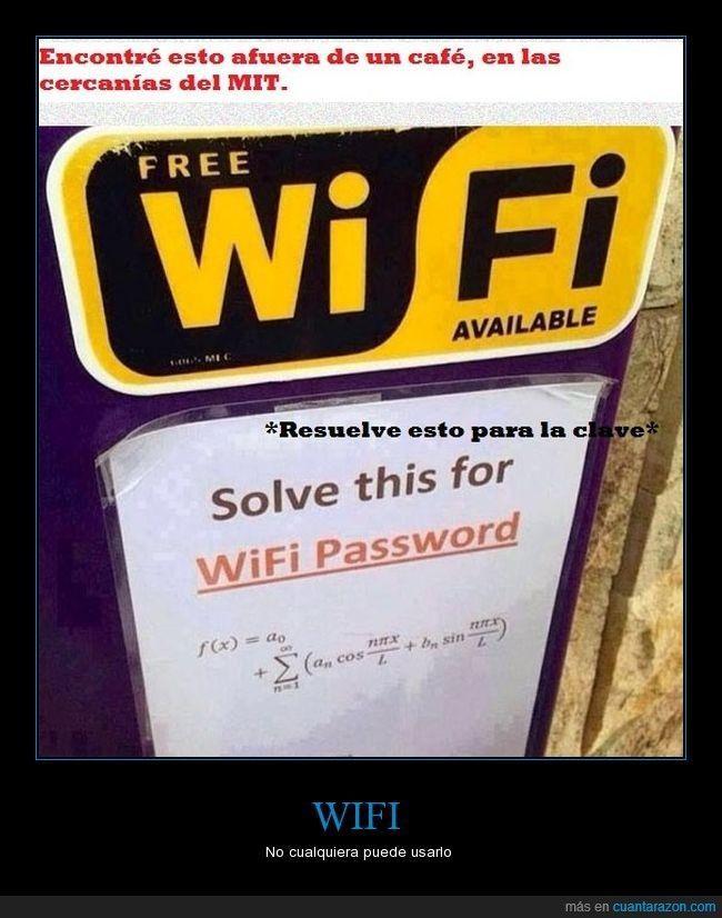 Si quieres saber la clave del WiFi en el MIT, tendrás que currártelo - No cualquiera puede usarlo   Gracias a http://www.cuantarazon.com/   Si quieres leer la noticia completa visita: http://www.estoy-aburrido.com/si-quieres-saber-la-clave-del-wifi-en-el-mit-tendras-que-currartelo-no-cualquiera-puede-usarlo/