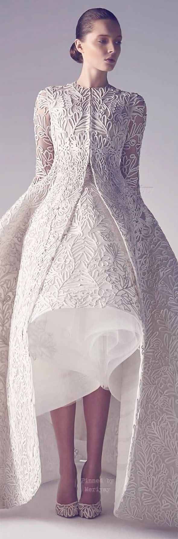 Ashi Haute Couture Spring Summer 2015. Such pretty details!