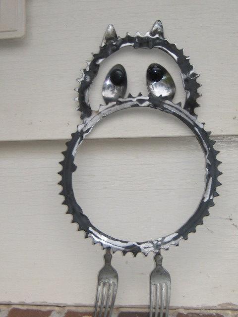 metal yard art,sculptures,garden art,found object.recycled art metal, sculpture art,. $25.00, via Etsy.