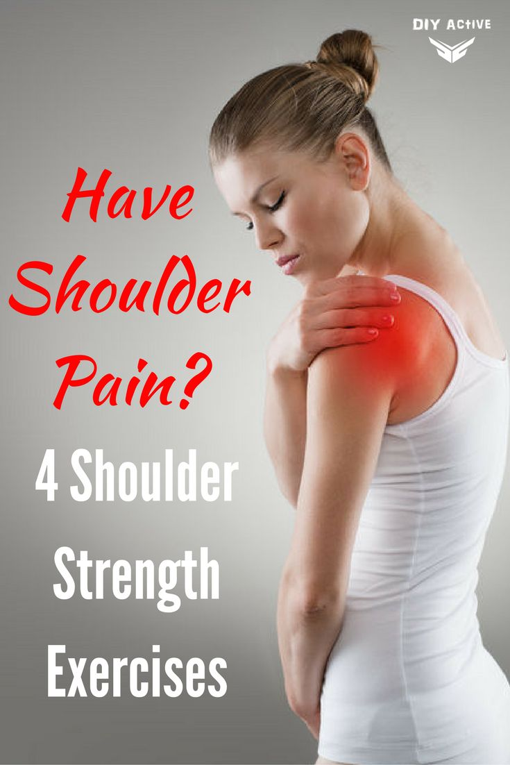 Have Shoulder Pain? 4 Shoulder Strength Exercises via @DIYActiveHQ #workout #shoulder