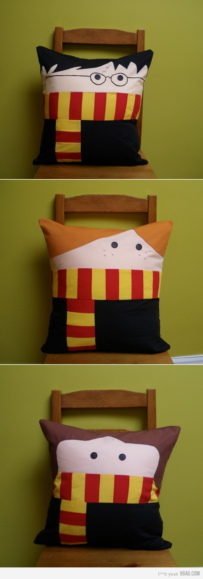 Harry Potter Pillows: Ideas, Sewing, Cushions, Kids, Things, Throw Pillows, Ron And Hermione, Harry Potter Pillows, Crafts
