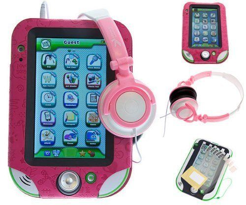 Ultimate Addons Girls Pink Leather Case Bundle for LeapFrog LeapPad Ultra, including PU Case, Headphones and Screen Protectors by Ultimate Addons, http://www.amazon.co.uk/dp/B00GNJ964S/ref=cm_sw_r_pi_dp_.FOqtb0GFVQ7B