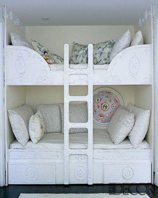 ..but love this!: Guest Room, Ideas, Elle Decor, Bunk Beds, Kids Room, Kidsroom, Girls Room, Bedrooms, Bunkbeds